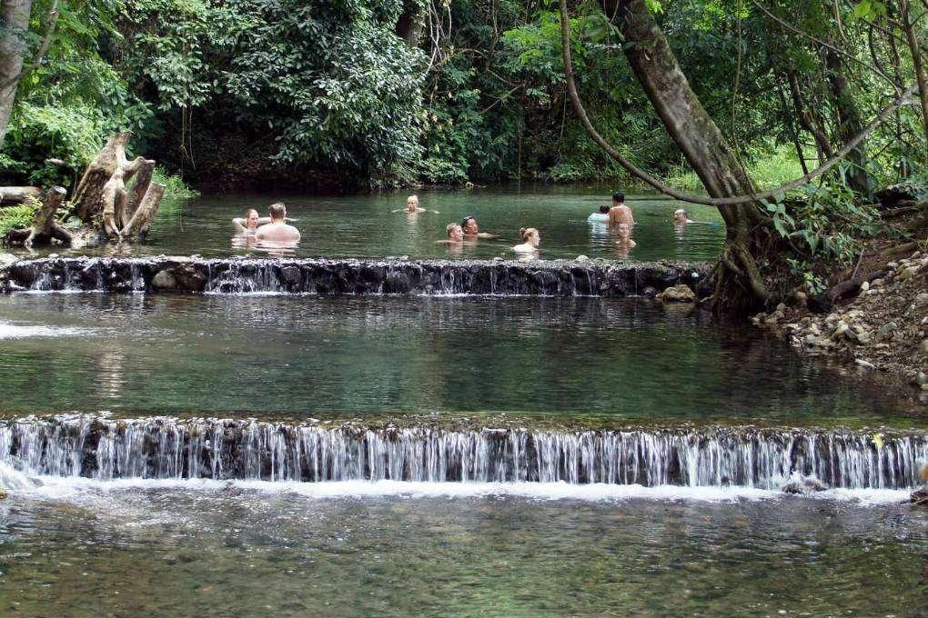 Sai Ngam Hot Spring vlakbij het dorpje Pai
