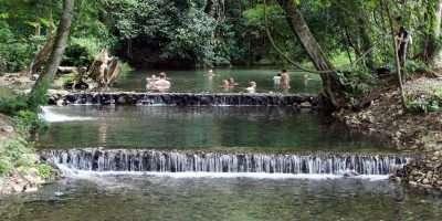 Sai Ngam Hot Spring Near Pai, Thailand