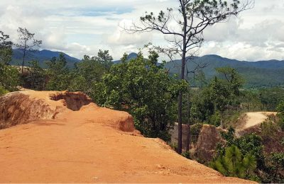Platforn Van Pai Canyon In Pai In Het Noorden Van Thailand