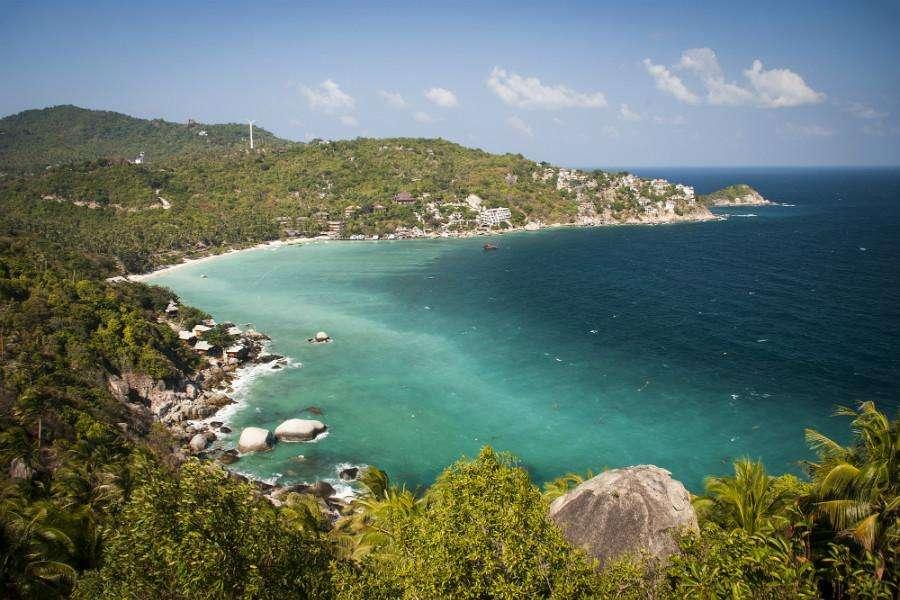 View of Shark Bay (Thian Og Bay) in Koh Tao