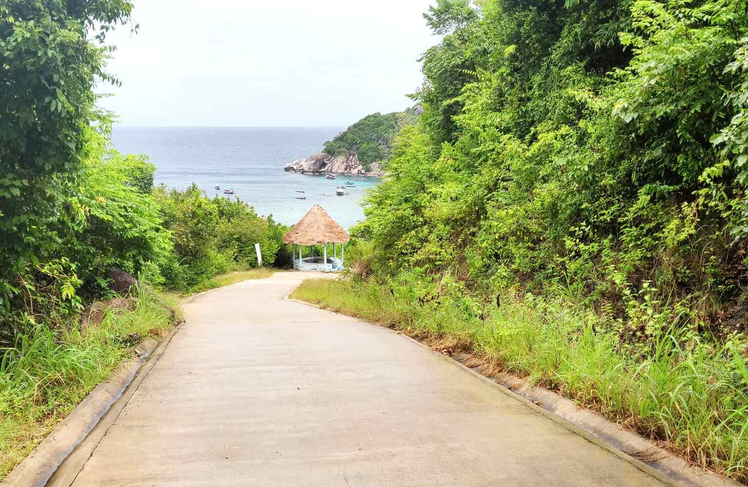 Weg naar Shark Bay (Thian Og Bay) op Koh Tao