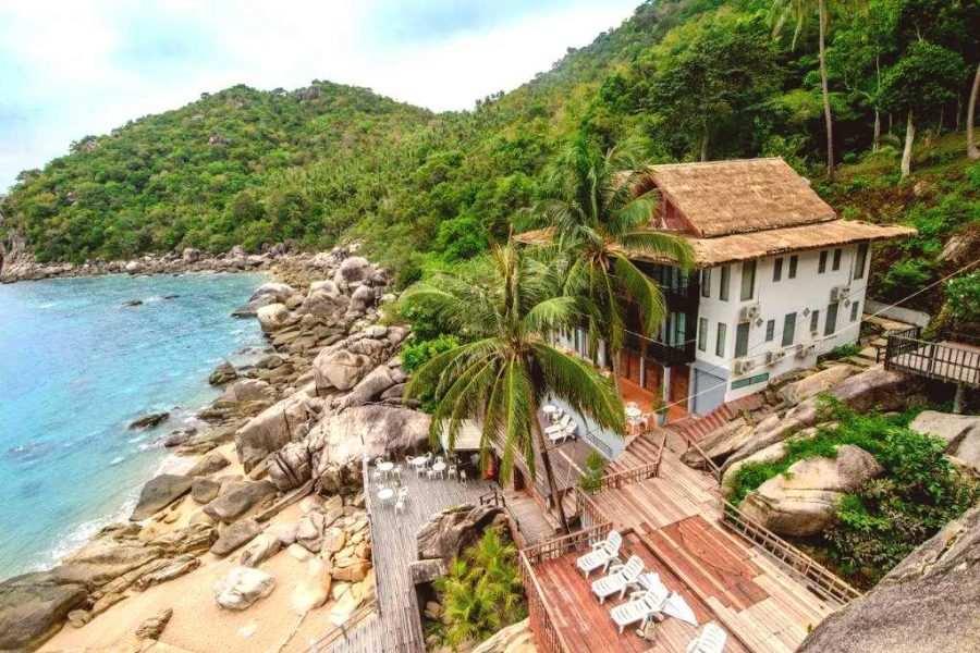 Muong Beach Resort op Mango Bay op Koh Tao, Thailand