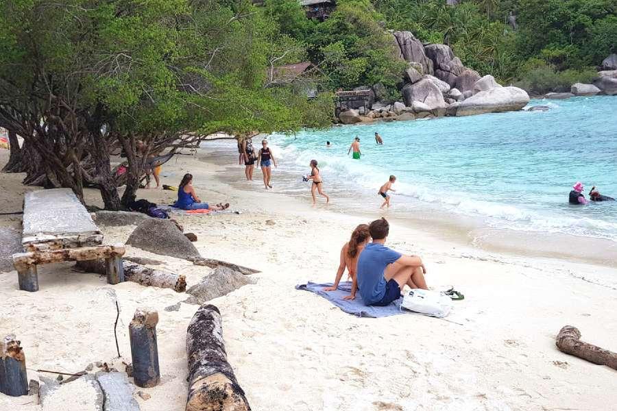 Freedom Beach, wit strand, Koh Tao