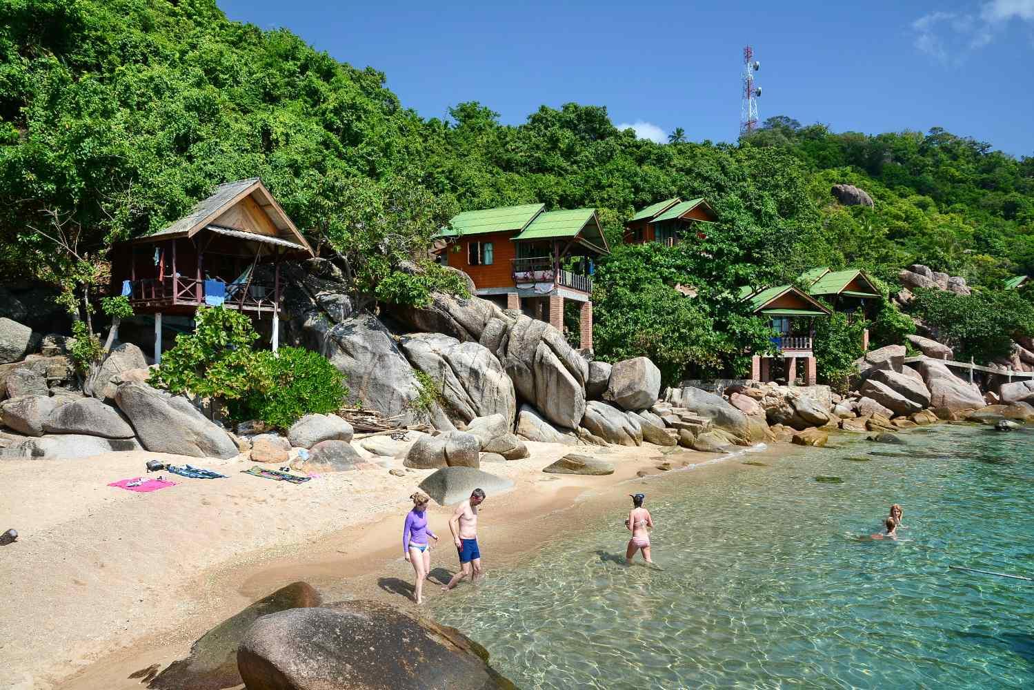 Baaitje van Jansom Bay op Koh Tao in Thailand