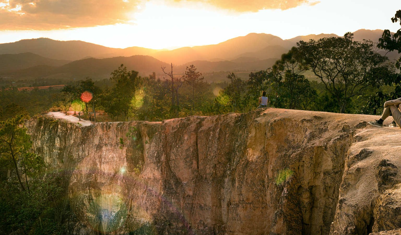 Pai Canyon zonsondergang in Pai, Thailand