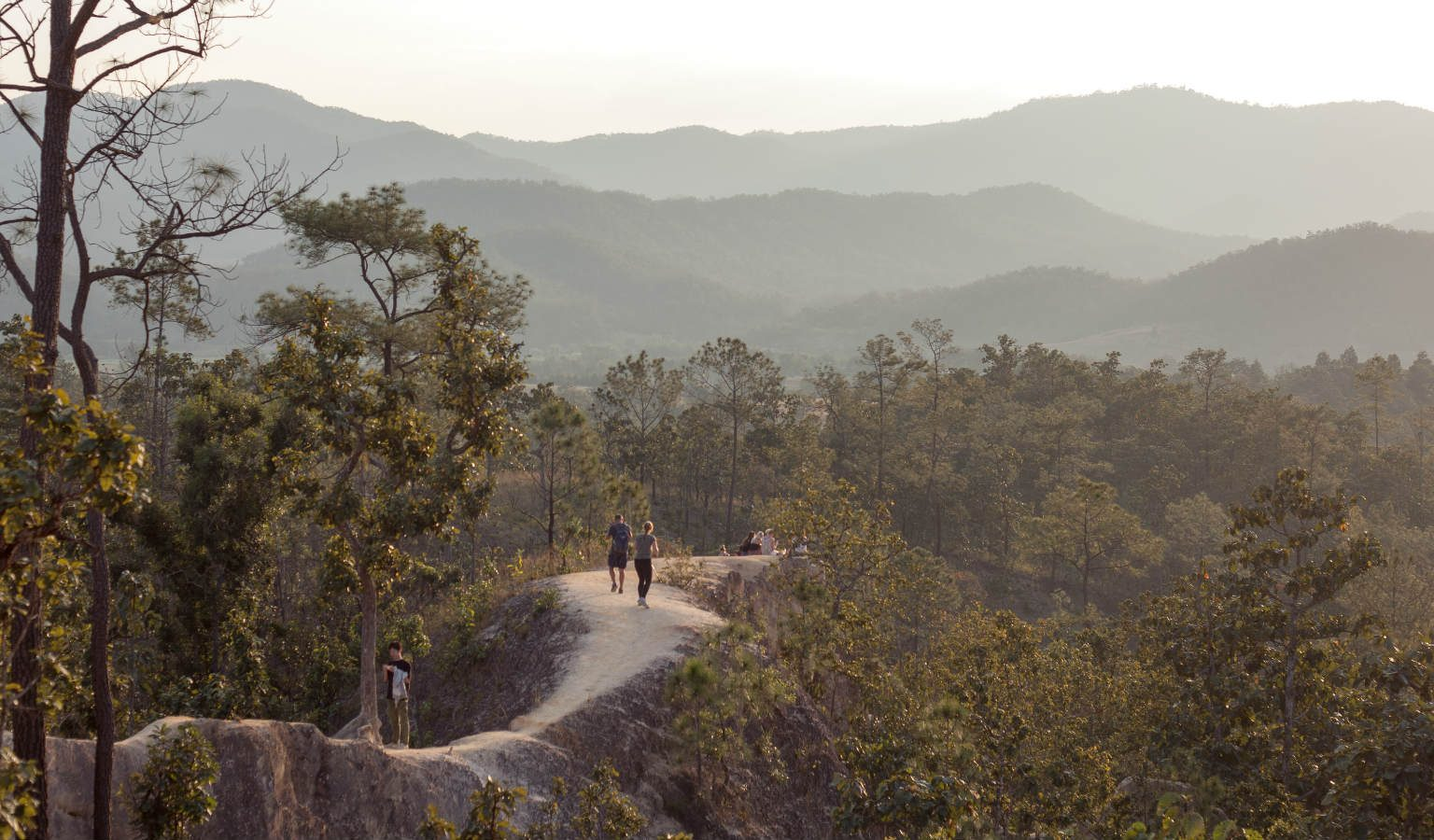 Pai Canyon uitzicht op de bergen van Pai, Thailand