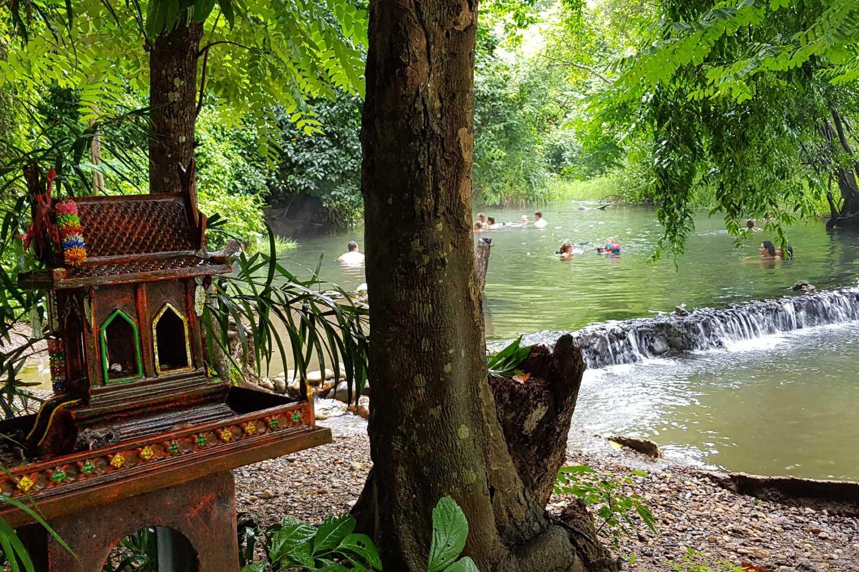 De Sai Ngam Hot Spring vlakbij Pai in Thailand