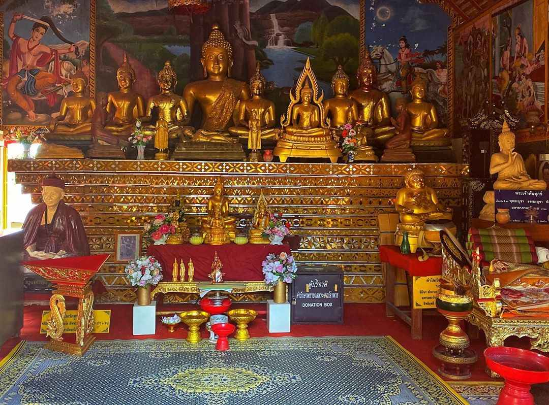 Inside the Wat Phra That Mae Yen at the Temple on the Hill in Pai