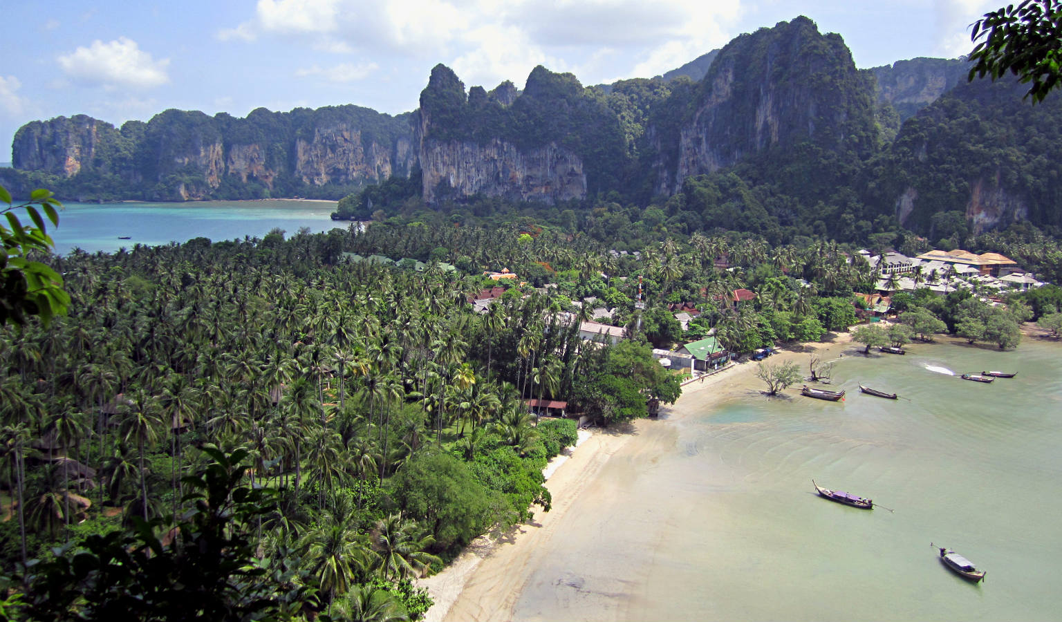 View of the beaches of Railay East and Railay West from the viewpoint
