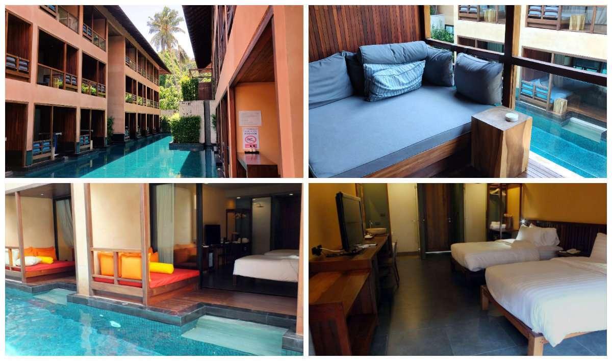 Slapen op Railay Beach, hotelkamers en zwembad van Avatar Resort, Railay East