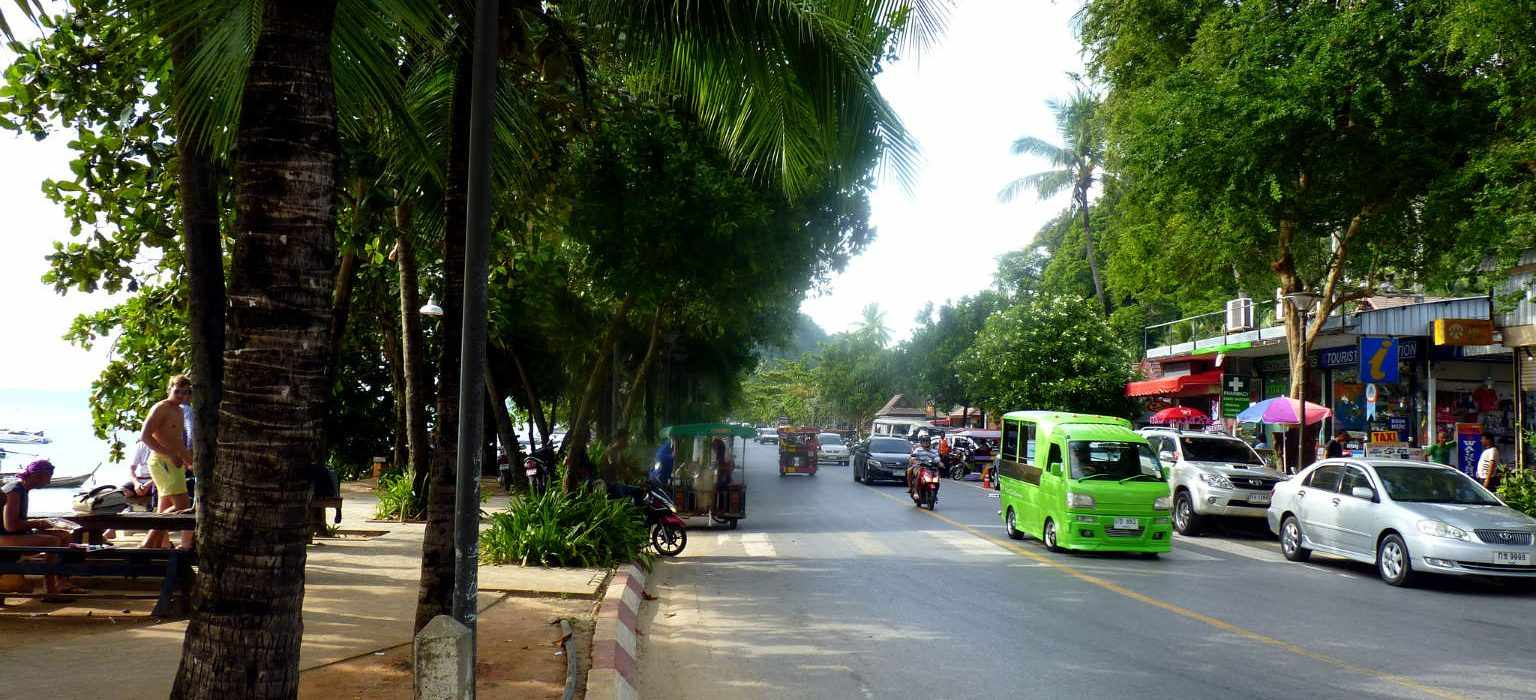 The boulevard of Ao Nang Beach