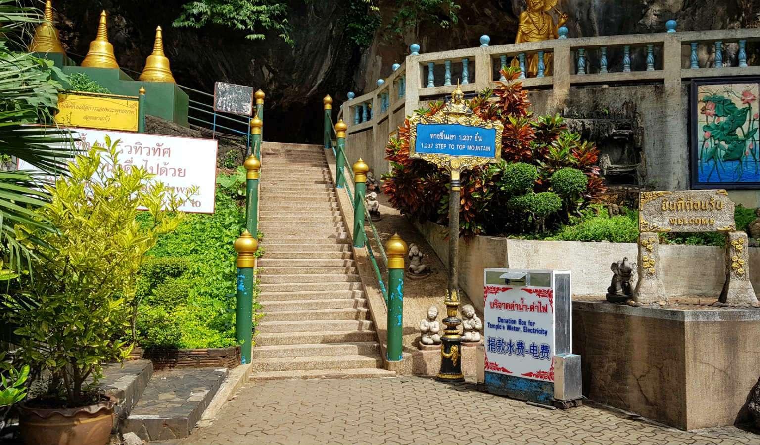 Begin trappen Tiger Cave Tempel Krabi