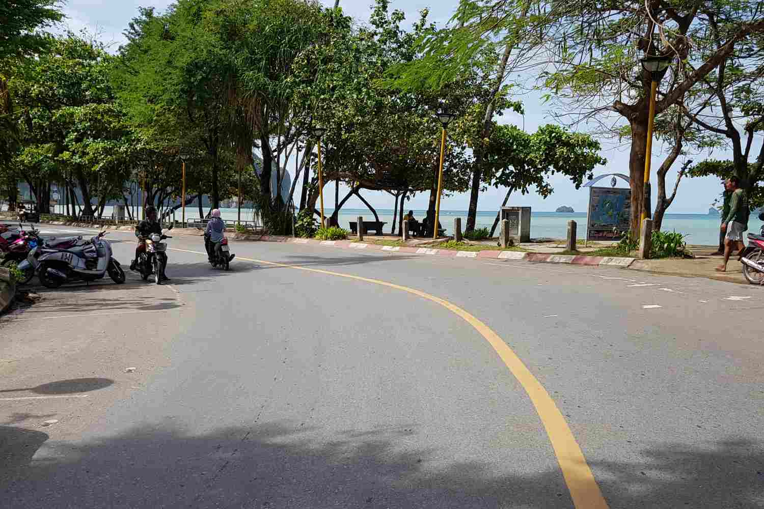 The road along the boulevard of Ao Nang Beach