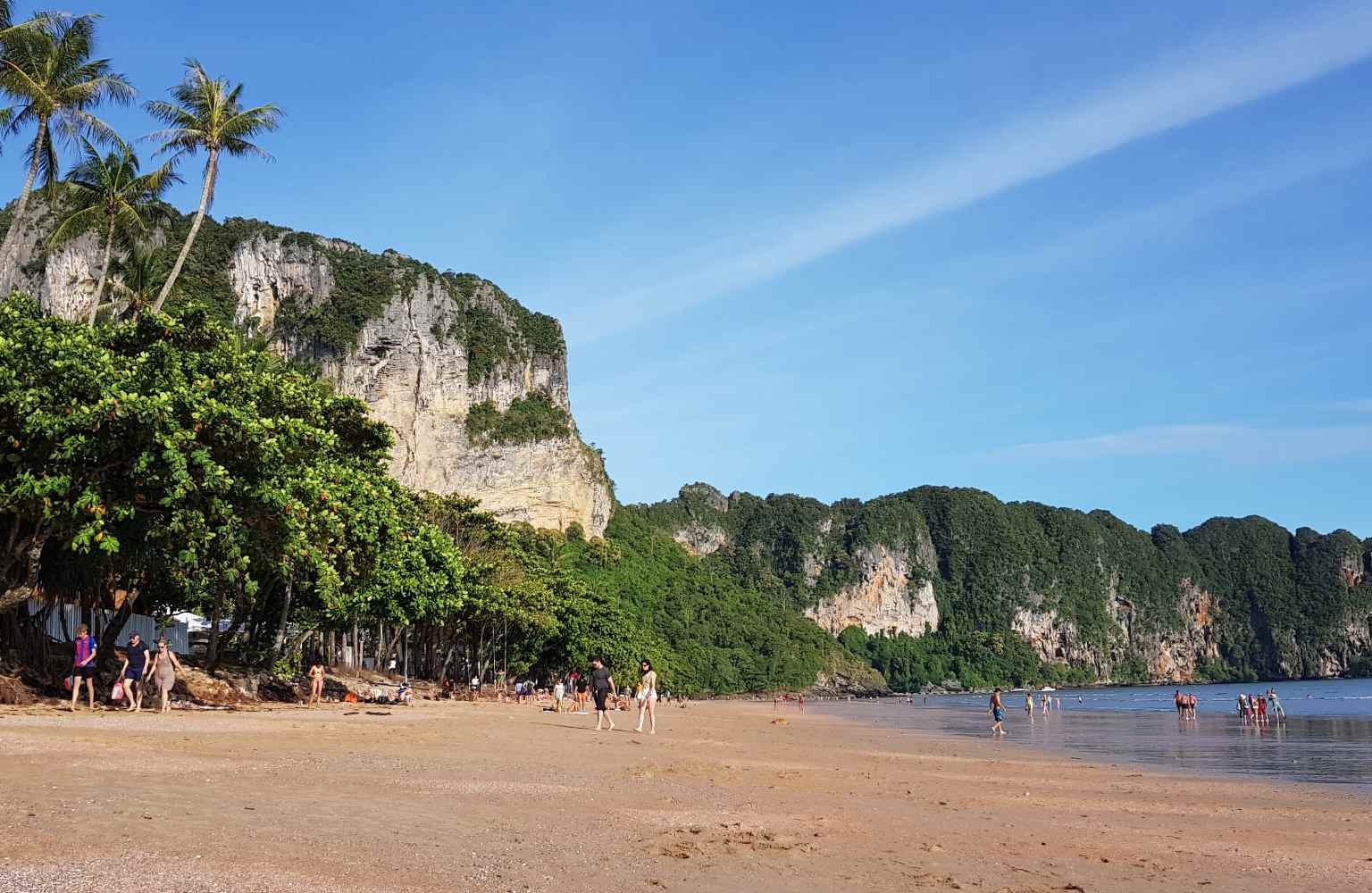 The eastern part of Ao Nang Beach