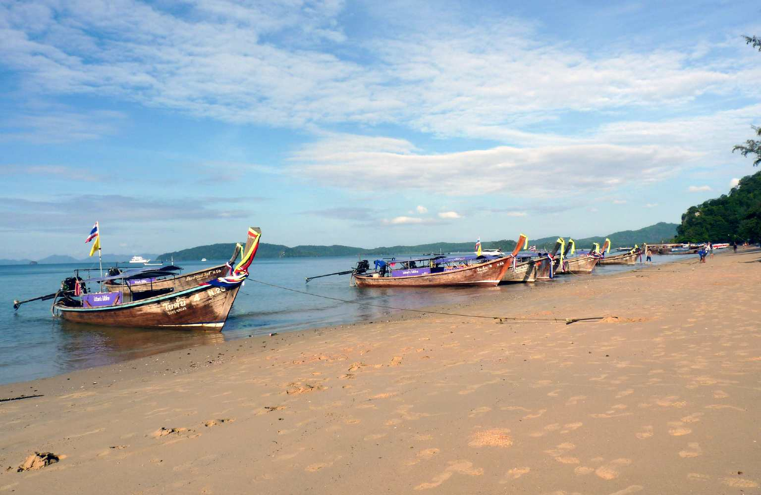 Longtail boats at Ao Nang Beach