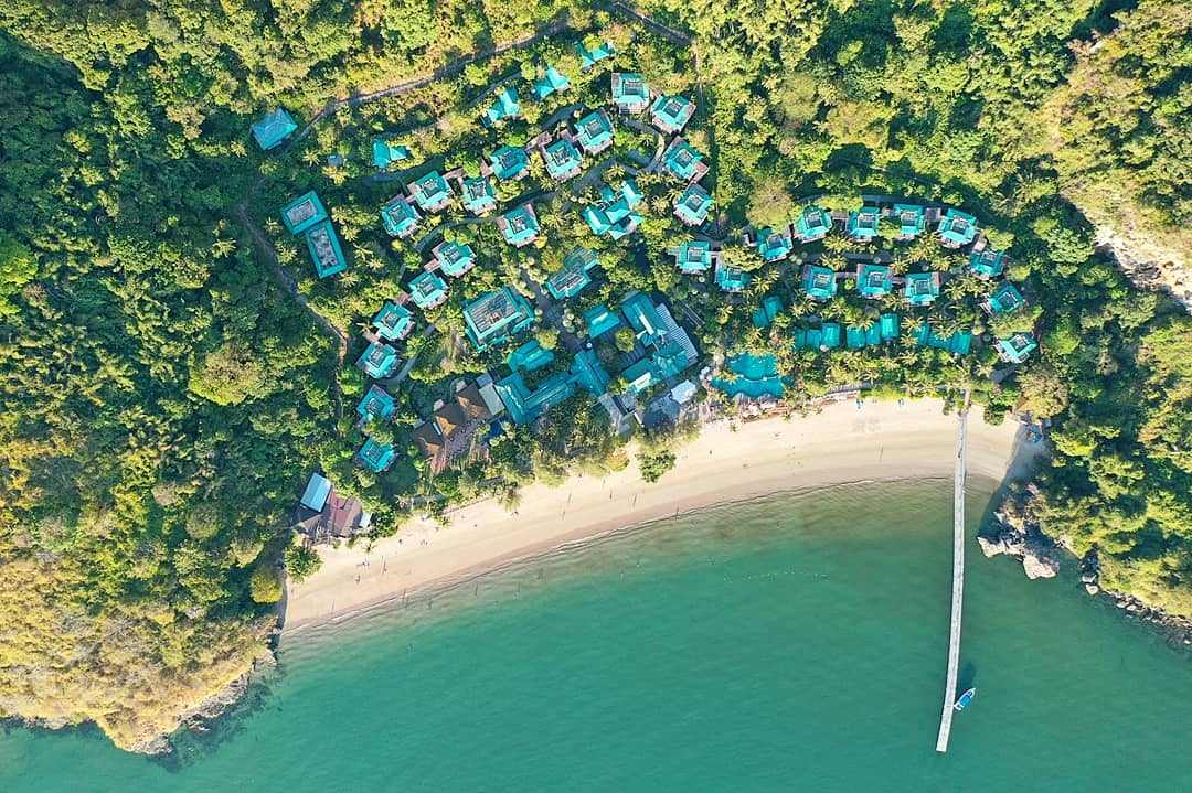 Centara Grand Krabi captured with a drone