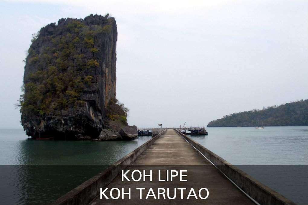 Ao Ta Lo Woo Pier Op Koh Tarutao, Thailand