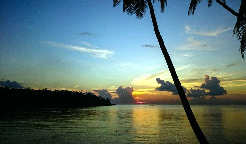 Sunset on Haad Salad, on the island of Koh Phangan in Thailand