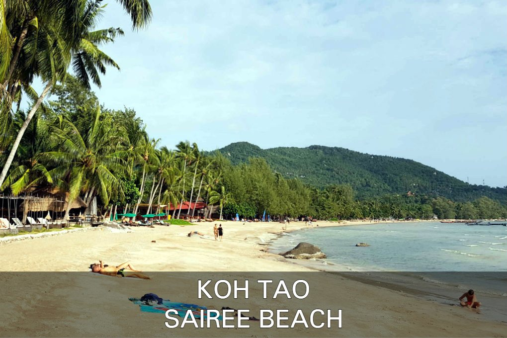 Sairee Beach Op Koh Tao In Thailand