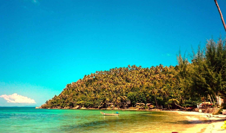 De baai van Haad Salad, op het eiland Koh Phangan in Thailand