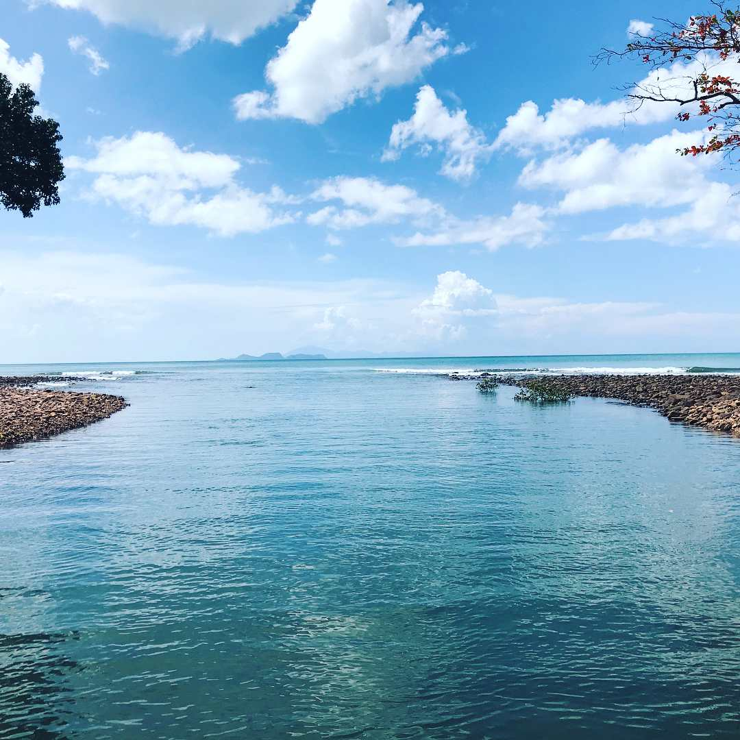 The river at Ao Son on Koh Tarutao what flows into the sea