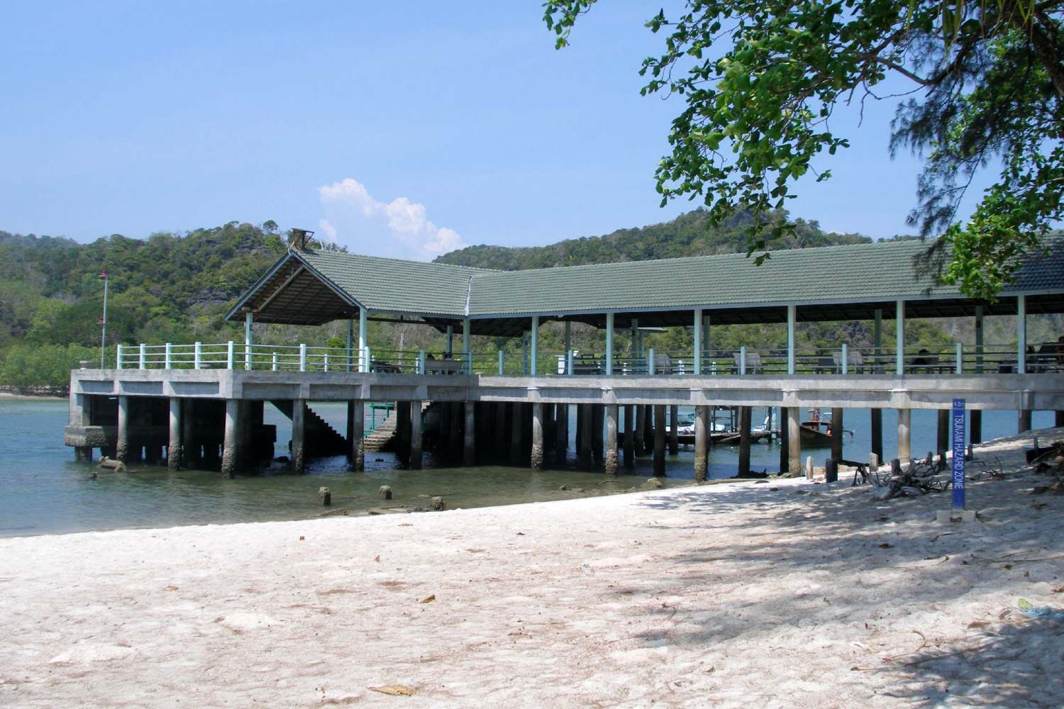 The pier of Koh Tarutao to which one arrives from the mainland or Koh Lipe
