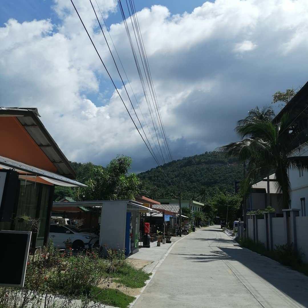 Street of Haad Salad village in Koh Phangan