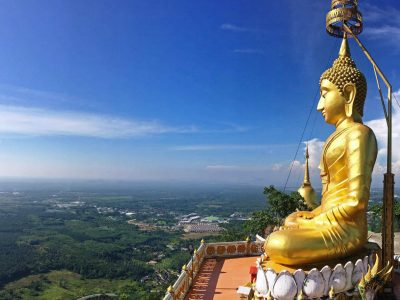 Tip 4 Of Fun Things To Do In Krabi Town Climb The Tigercave Temple. With A Large Golden Buddha On Top Of A Mountain And 360 Degree Views Over Krabi.