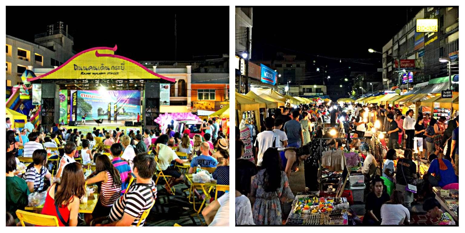 Gezellige drukte op het plein en de markt .