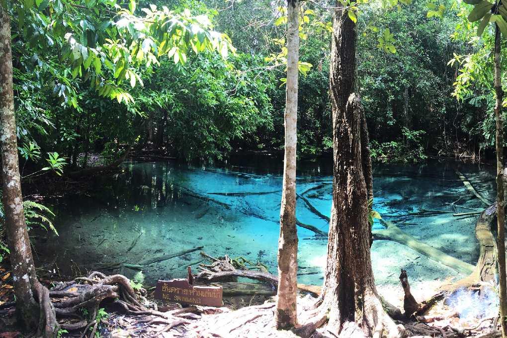 De Blue Pool vlakbij Krabi Town