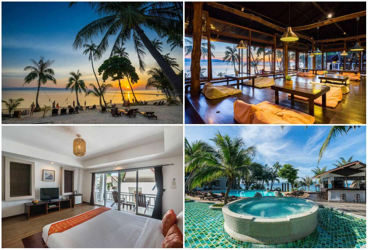 Collage van Cocohut Beach & Spa Resort op Leela Beach, Koh Phangan