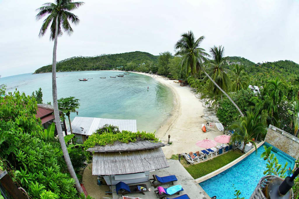 View of Haad Salad, on the island of Koh Phangan in Thailand from Cookie Salad Hotel