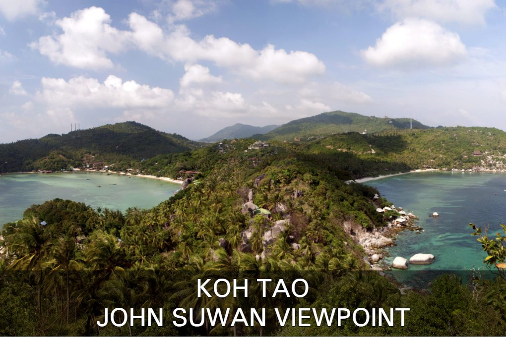 Read about the John Suwan Viewpoint on Koh Tao in Thailand