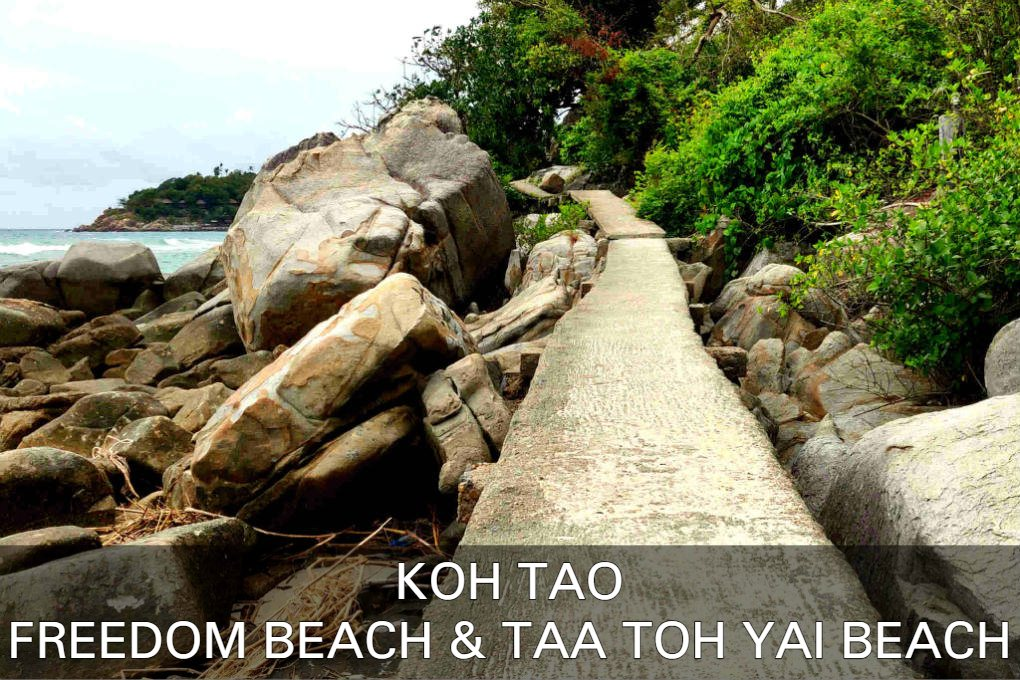 Freedom Beach & Taa Toh Yai Beach Op Koh Tao In Thailand
