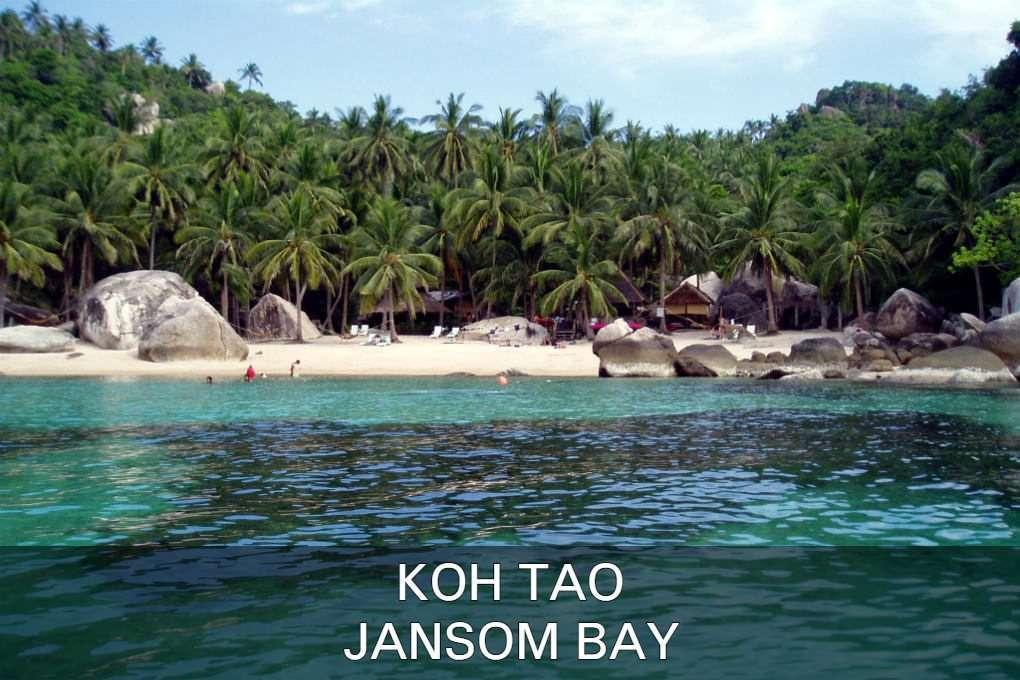 Jansom Bay Op Koh Tao In Thailand