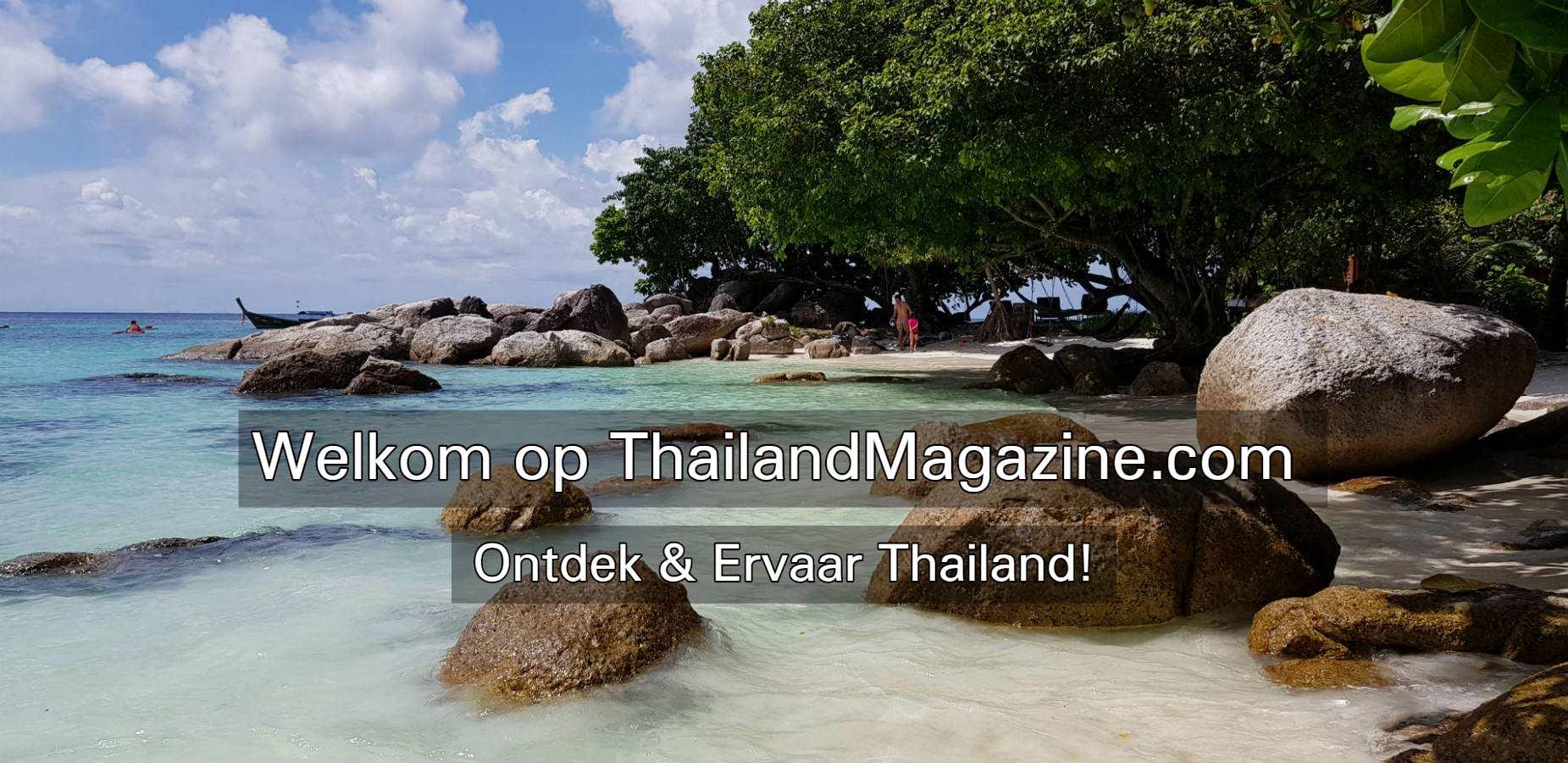 Welkom op ThailandMagazine.com, tropisch wit strand met blauwe zee Thailand