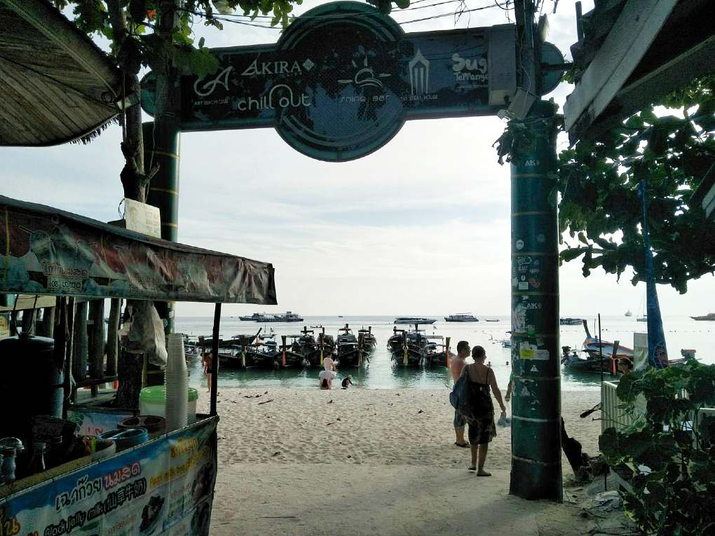 Exit Koh Lipe Walking Street on Pattaya Beach