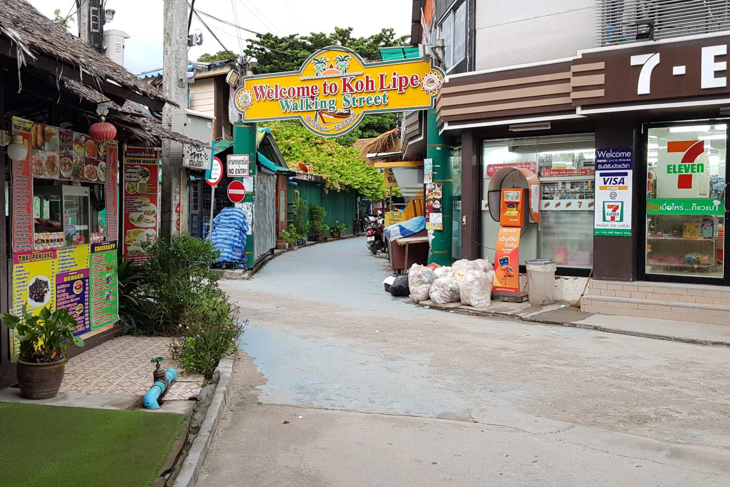 Koh Lipe Walking Street from Sunrise Beach in Koh Lipe