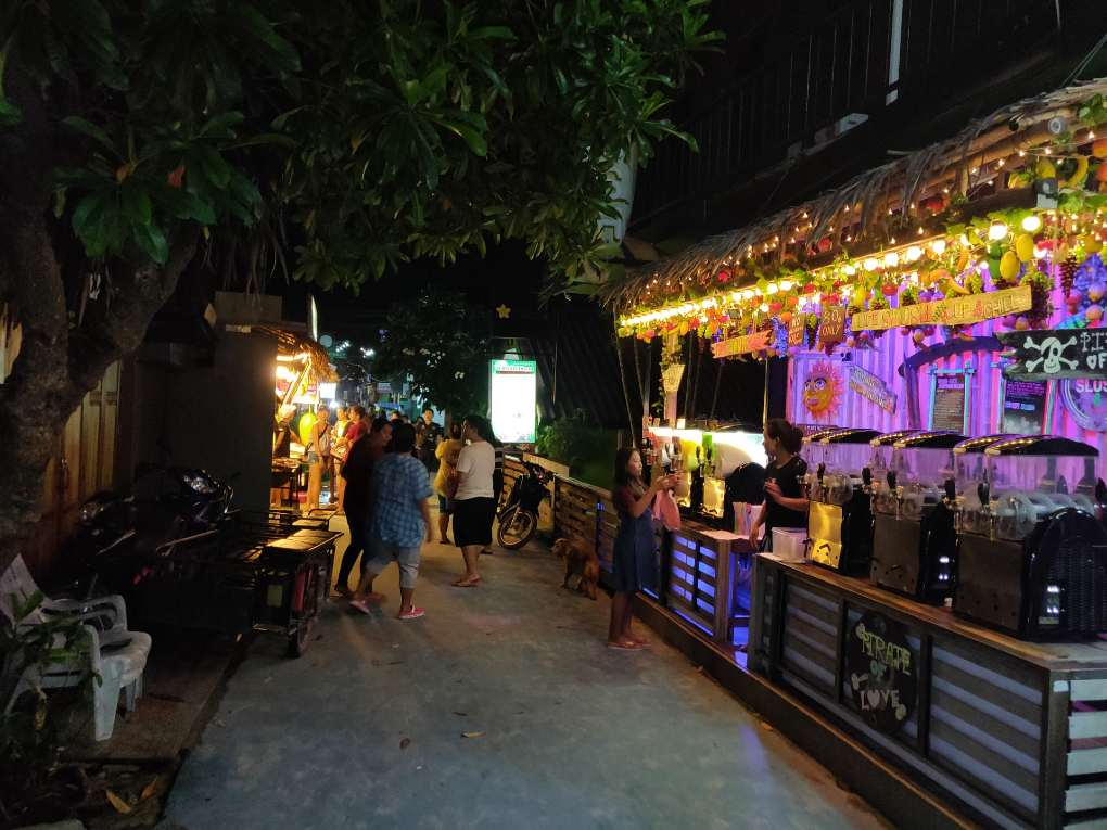 Koh Lipe Walking Street during the evening in low season