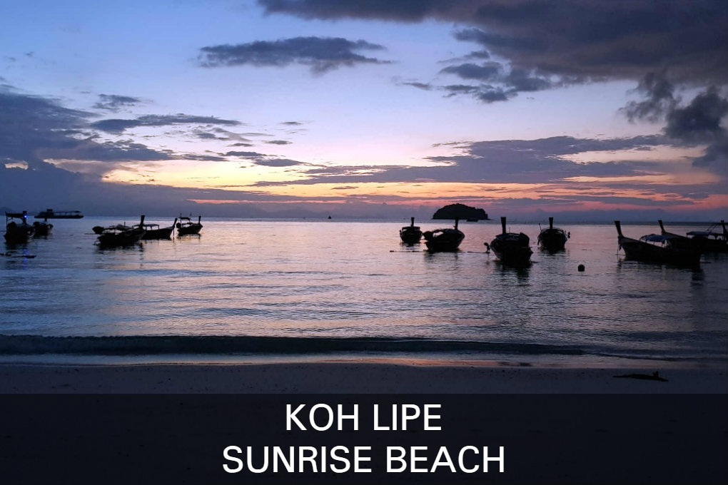Sunrise Beach op Koh Lipe in Thailand