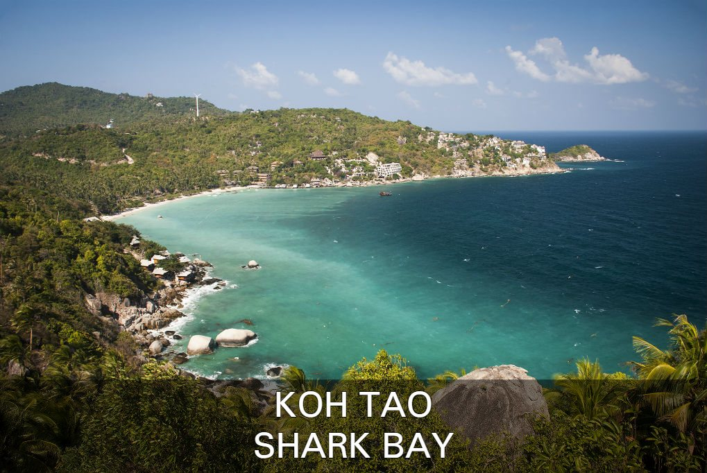 Lees Over Shark Bay (Thian Og Bay) Op Koh Tao In Thailand
