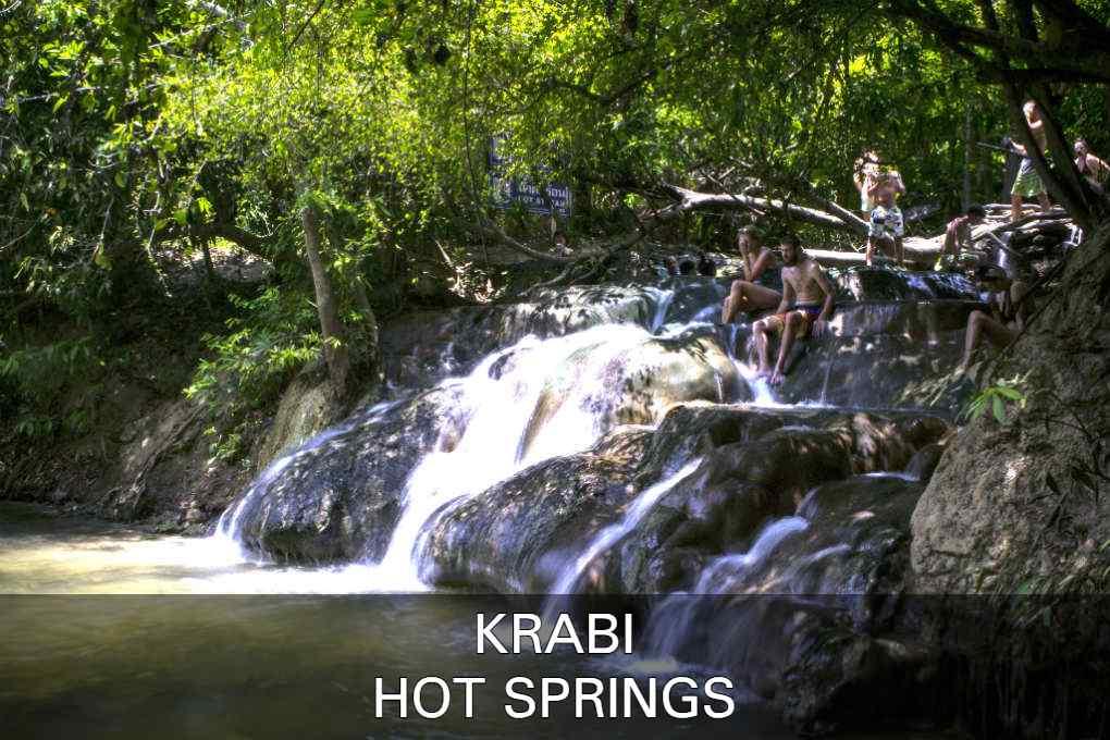 Link Naar Krabi Hot Spring Watervallen