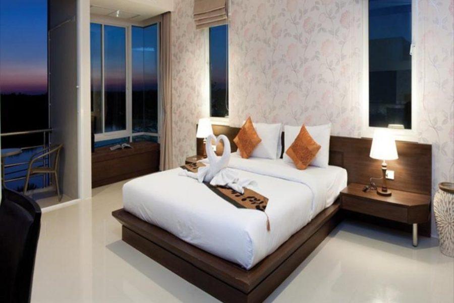 tweepersoonsbed met uitzicht op rivier, Hotel River View