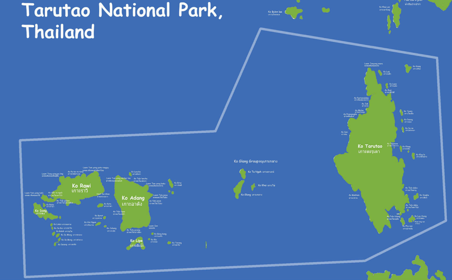 Tarutao National Park map