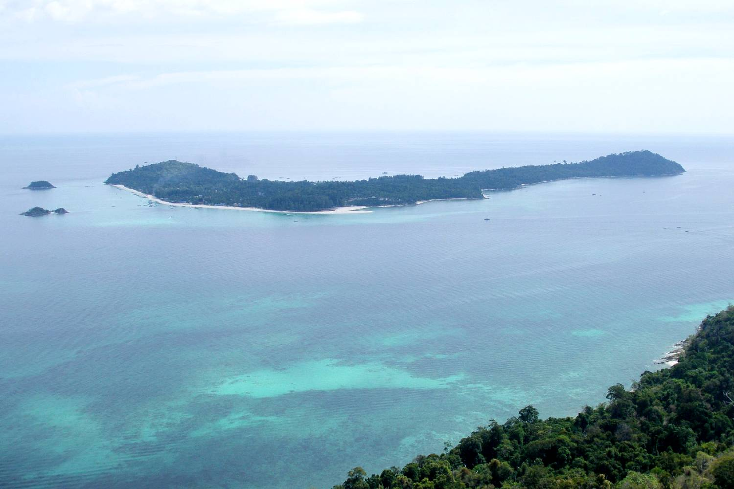 The island of Koh Lipe seen from the viewpoint on the island of Koh Adang