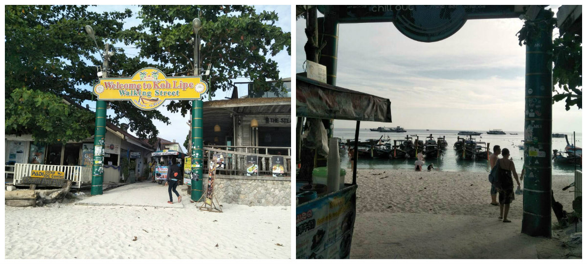 Walking Street vanaf Pattaya Beach in Koh Lipe