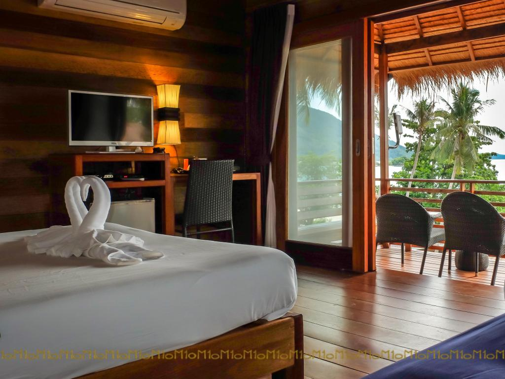 Bedroom of the Ten Moons Lipe Resort (one of the Best hotels on Koh Lipe)