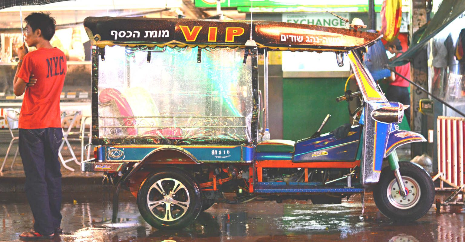 Vip tuk tuk op Khao San Road in Bangkok