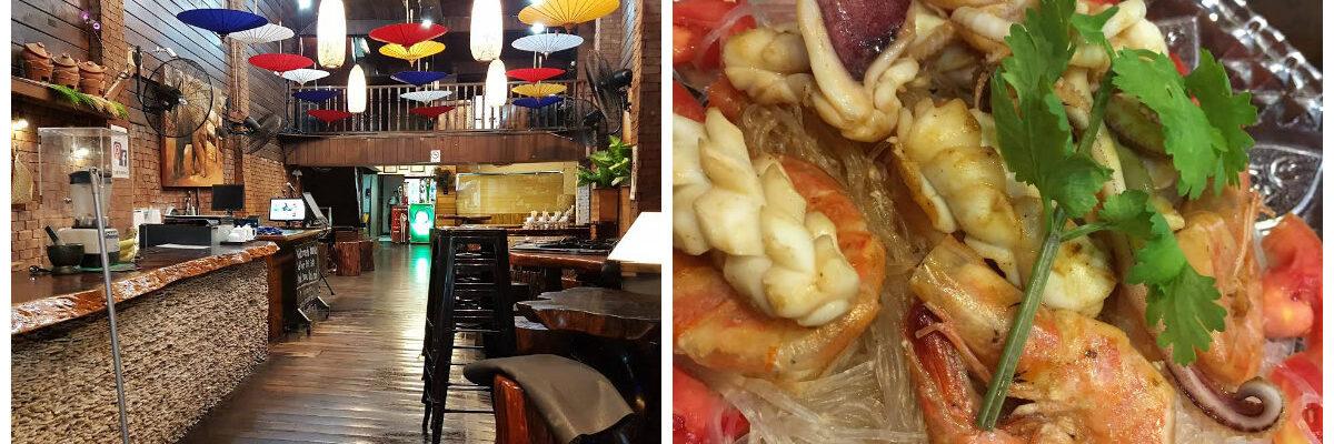 Knus interieur restaurant en verse sushi op schotel