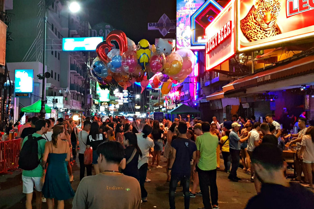 Khao San Road Cosy backpackers street with bars and discotheques.